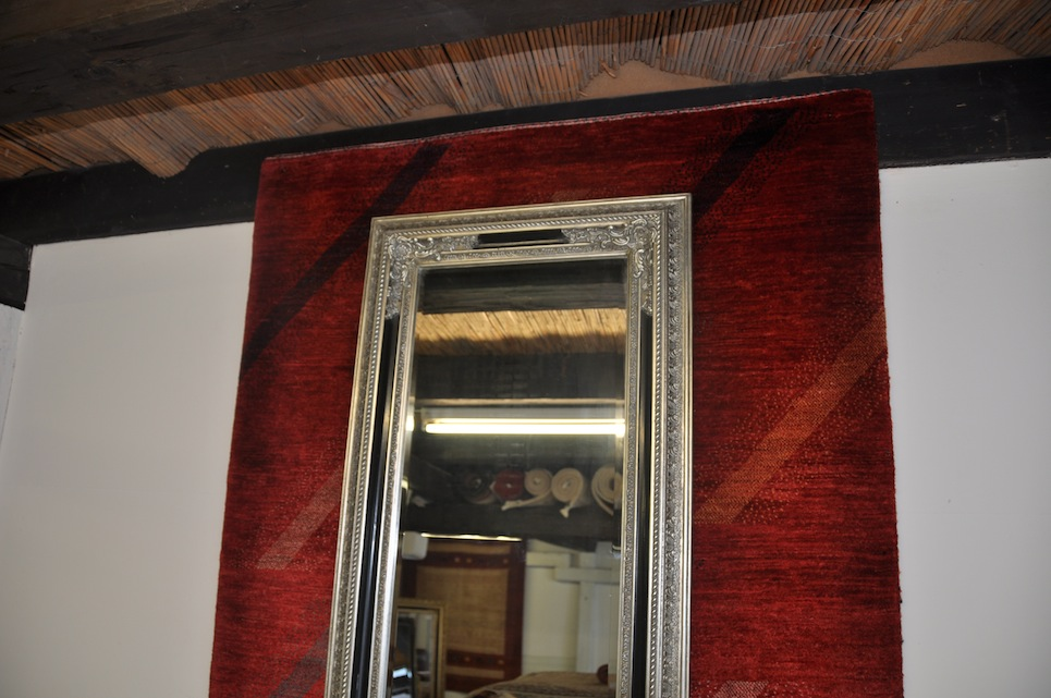 antik silber schwarz spiegel wandspiegel 140x60 cm ebay. Black Bedroom Furniture Sets. Home Design Ideas