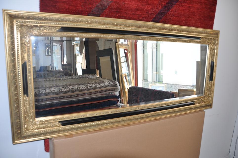barock wandspiegel zierspiegel gold schwarz spiegel 60x140 cm spiegel gold neu ebay. Black Bedroom Furniture Sets. Home Design Ideas
