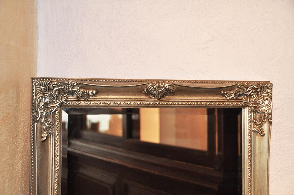 wandspiegel barock antik silber vintage 51 x 131 cm zierspiegel ebay. Black Bedroom Furniture Sets. Home Design Ideas