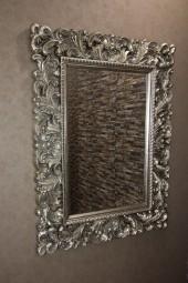 Barock-Wandspiegel Silber