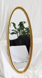 Ovaler Spiegel Antik-Gold Vintage 115x55