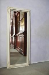 Wandspiegel Elfenbeinweiß 134 x 54 cm