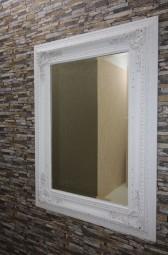 Wand-/Zierspiegel Gold-Weiß