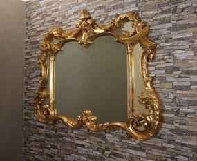 Klassischer Spiegel mit Verzierungen Gold