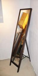 Standspiegel Klappbar Braun