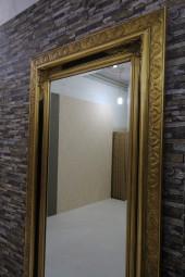 Barock-Wandspiegel Gold-Schwarz