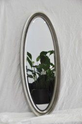 Wandspiegel Oval Silber