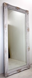 Barock-Wandspiegel Elfenbeinweiß