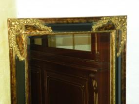 Spiegel mit Verzierungen Gold-Schwarz
